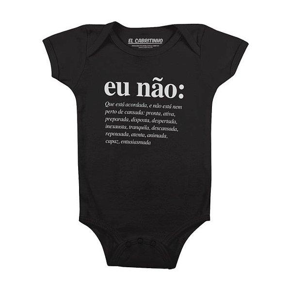 Eu Não (feminino) - Body Infantil
