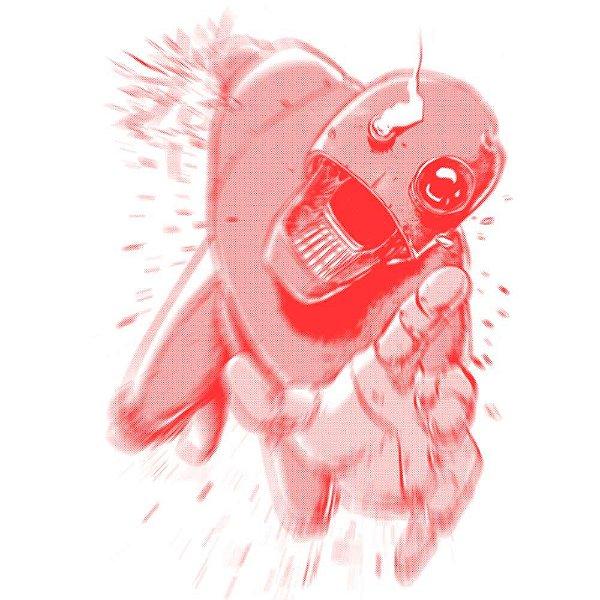 Falling Robot - Camiseta Clássica Masculina