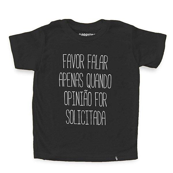 Favor Não Falar - Camiseta Clássica Infantil