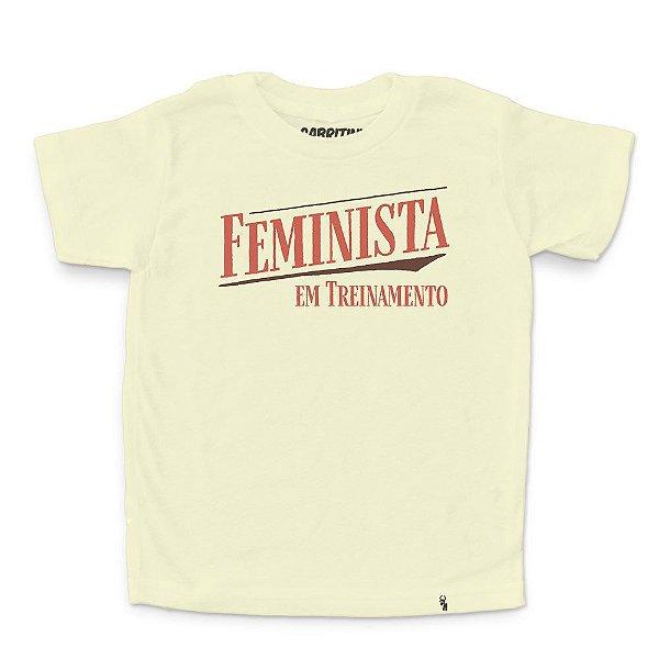 Feminista em Treinamento - Camiseta Clássica Infantil