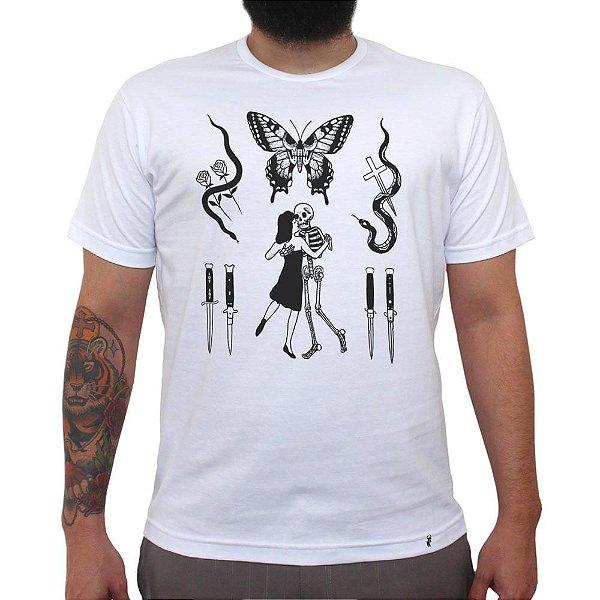 Flashes Tattoo - Camiseta Clássica Masculina