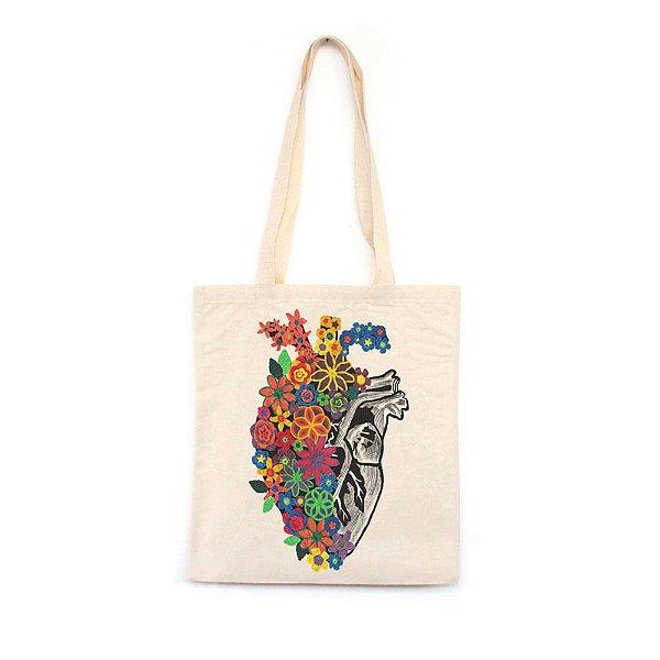 Flores de Crochê - Bolsa de Lona