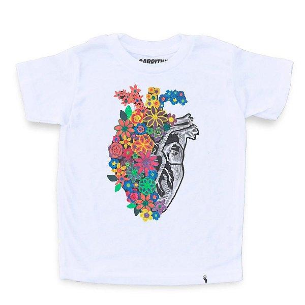 Flores de Crochê - Camiseta Clássica Infantil