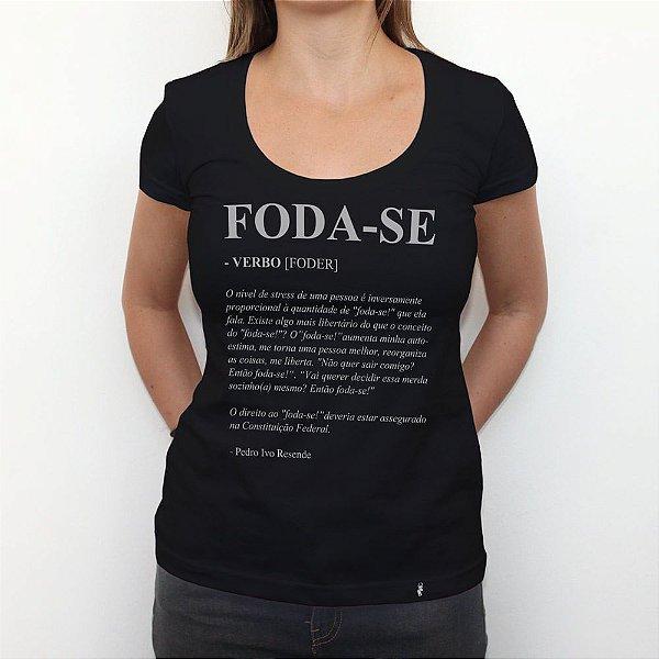 Foda-se - Camiseta Clássica Feminina