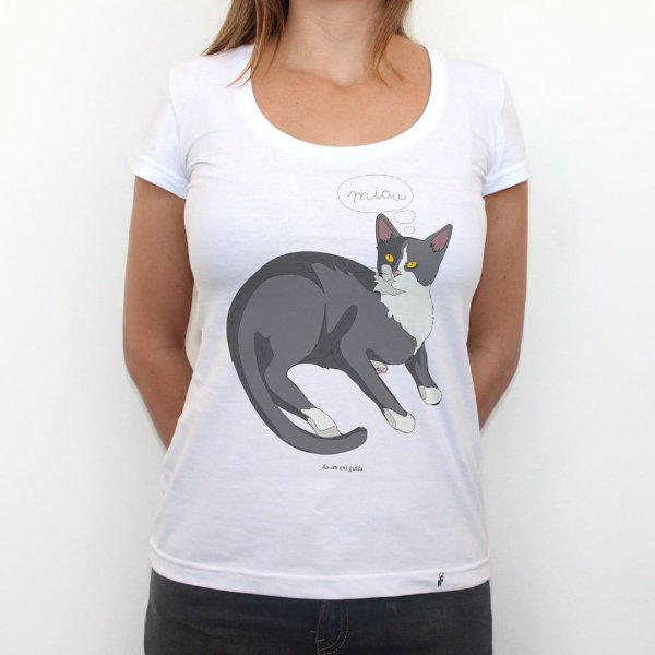 Gatês - Camiseta Clássica Feminina