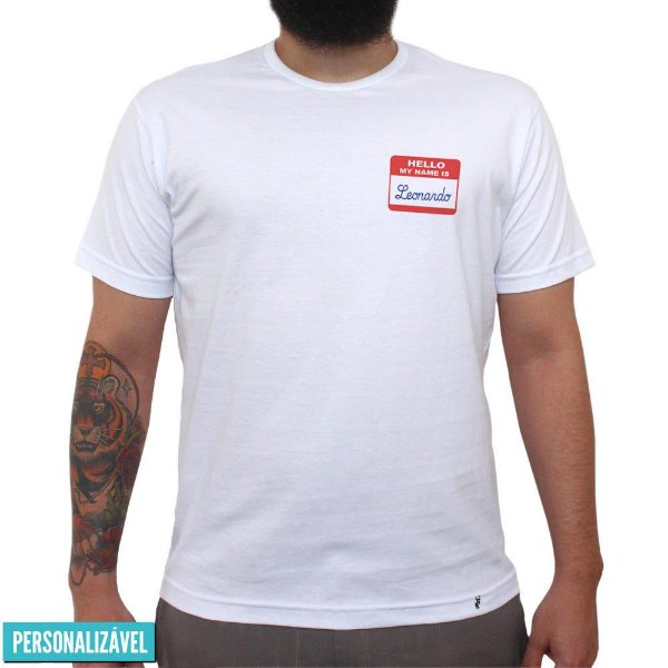 Hello, My Name Is - Camiseta Clássica Masculina