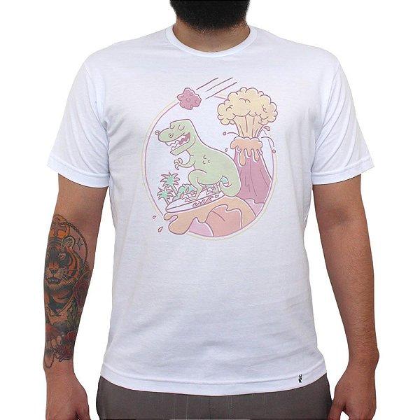 Lava Surfing - Camiseta Clássica Masculina