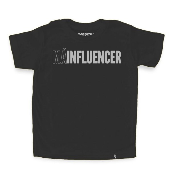 Má Influencer - Camiseta Clássica Infantil