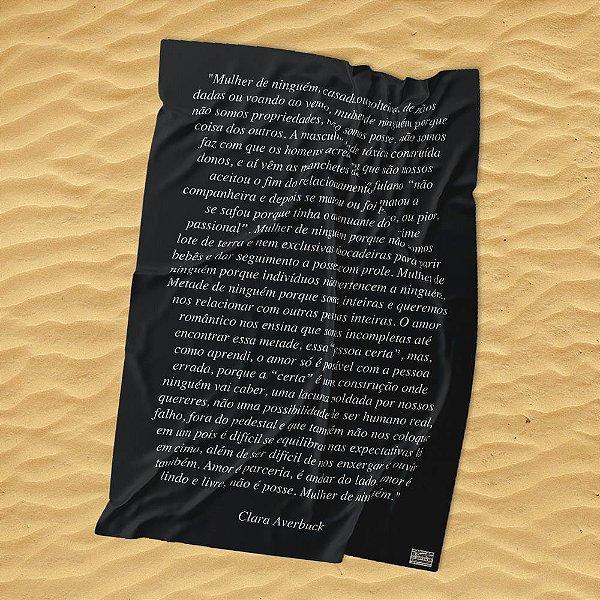 Manifesto Mulher de Ninguém - Canga