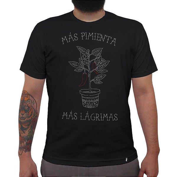 Más Pimienta - Camiseta Clássica Masculina