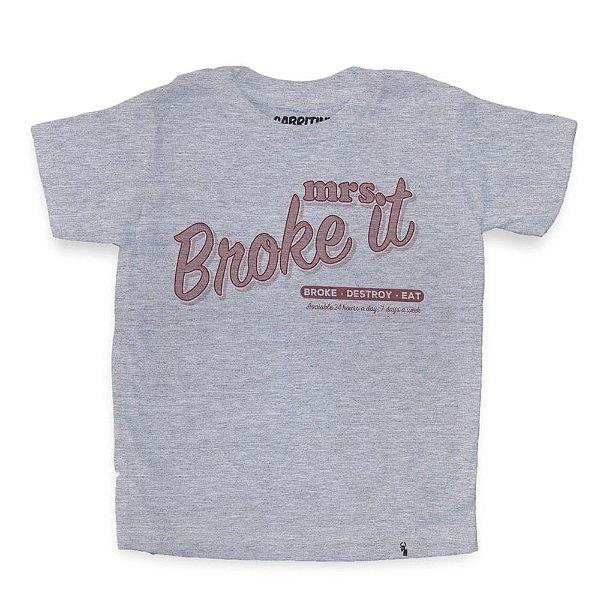Mrs. Broke It - Camiseta Clássica Infantil