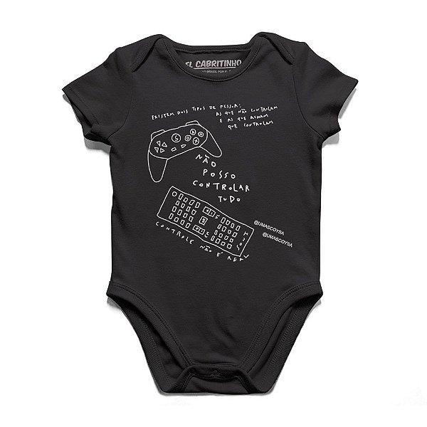 Não Posso Controlar Tudo #cestabasica - Body Infantil
