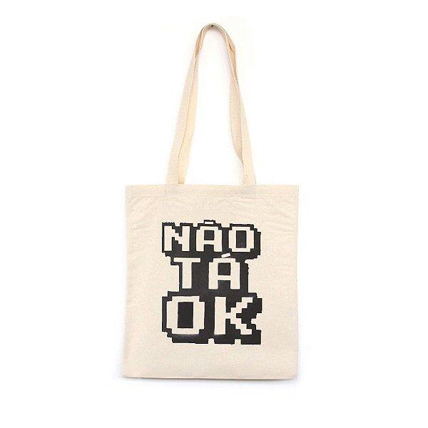 Não Tá OK  - Bolsa de Lona-Off White-U