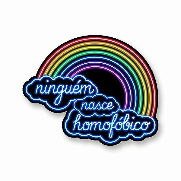 Ninguém Nasce Homofóbico - Adesivo de Vinil