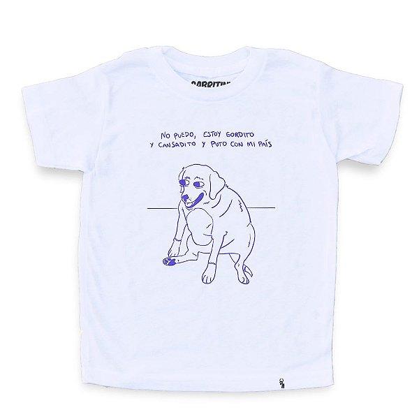 No Puedo Estoy Gordito - Camiseta Clássica Infantil