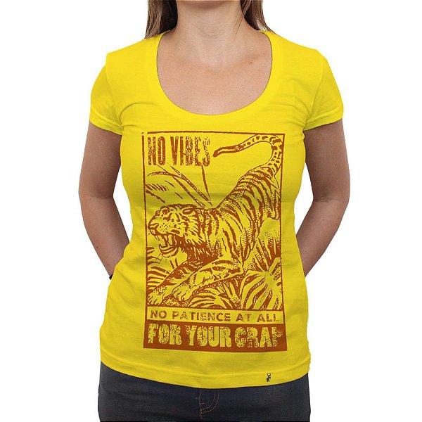 No Vibes - Camiseta Clássica Feminina