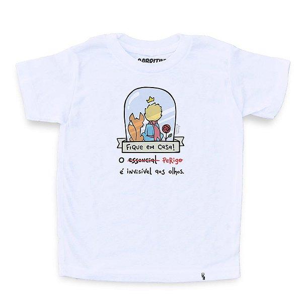 O Perigo É Invisível aos Olhos #cestabasica - Camiseta Clássica Infantil