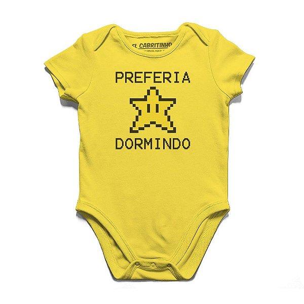 Preferia Star Dormindo - Body Infantil