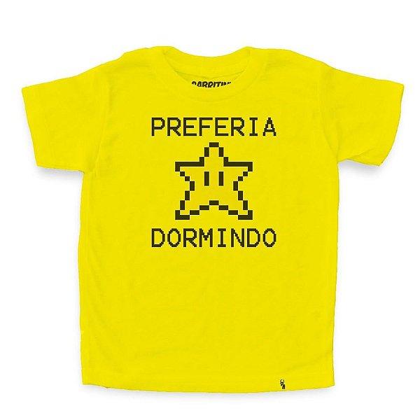 Preferia Star Dormindo - Camiseta Clássica Infantil