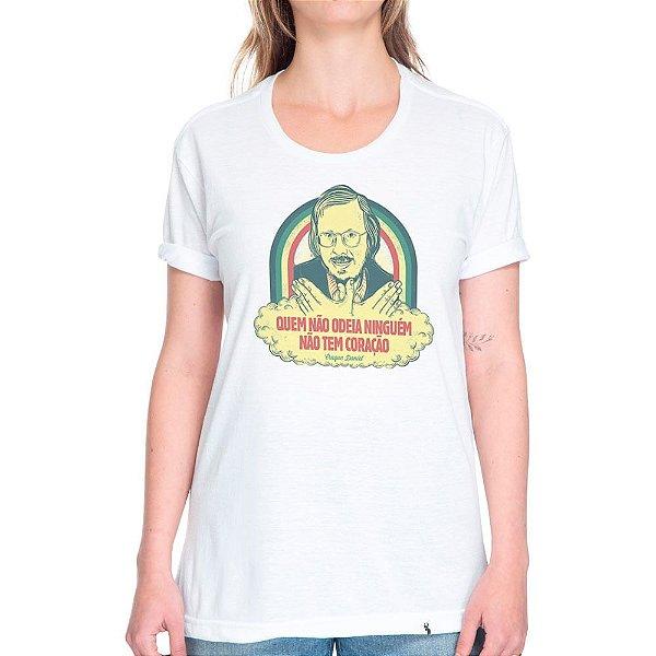 Quem Não Odeia Ninguém Não Tem Coração - Camiseta Basicona Unissex