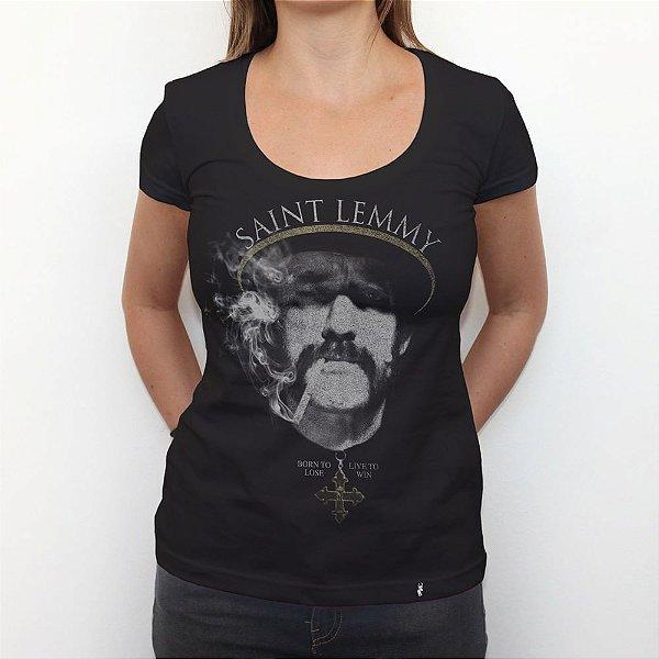 Saint Lemmy - Camiseta Clássica Feminina