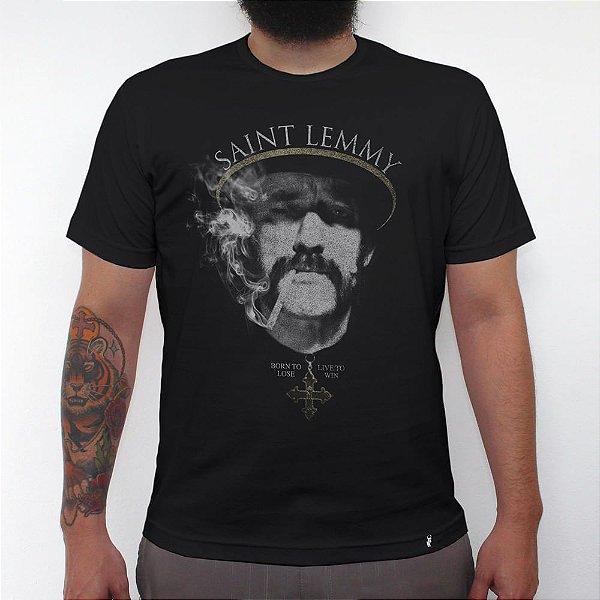 Saint Lemmy - Camiseta Clássica Masculina