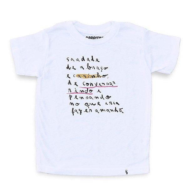 Saudade de Abraço e Carinho #cestabasica - Camiseta Clássica Infantil