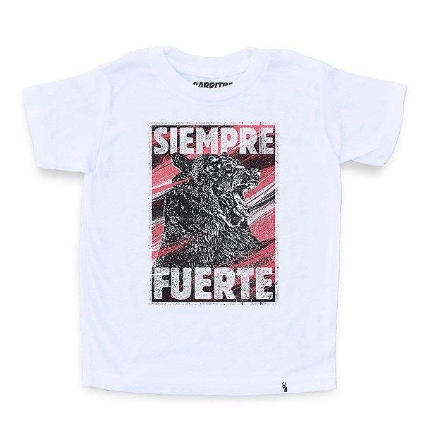 Siempre Fuerte - Camiseta Clássica Infantil