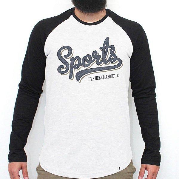 Sports - Camiseta Raglan Manga Longa Masculina