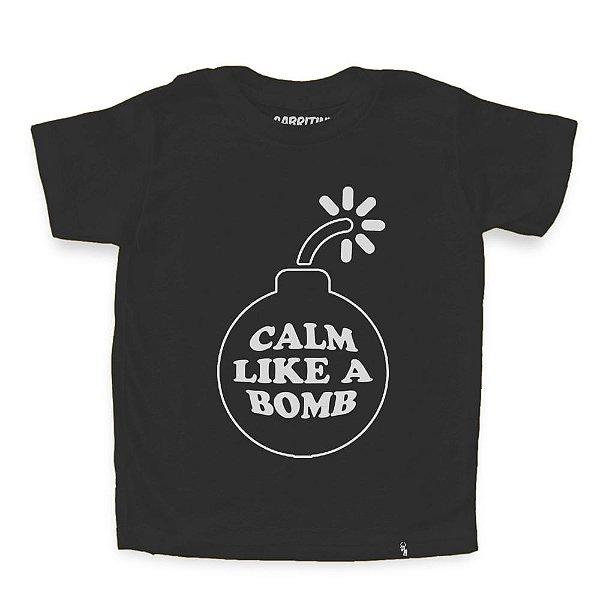 Super Calm Like a Bomb - Camiseta Clássica Infantil
