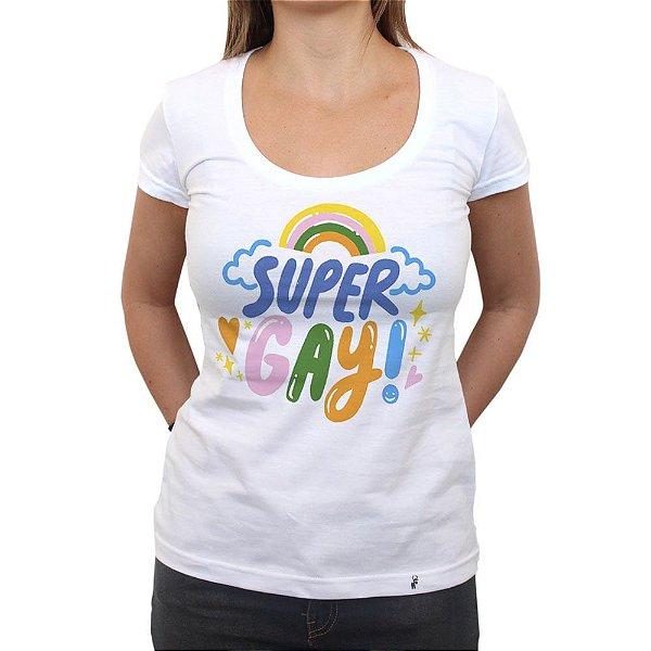 Super Gay - Camiseta Clássica Feminina