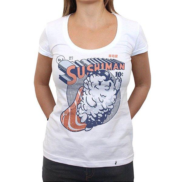 Sushiman - Camiseta Clássica Feminina