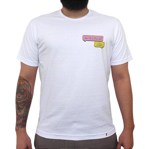 Ta a fim de - Camiseta Clássica Masculina