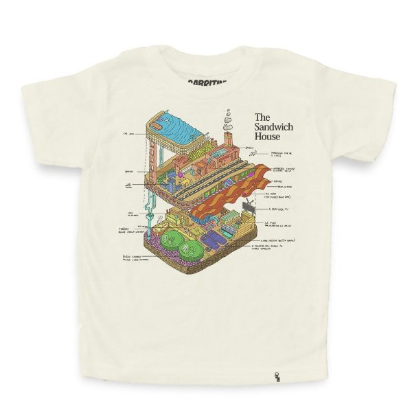 The Sandwich House - Camiseta Clássica Infantil