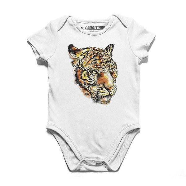 Tigre e Borboleta - Body Infantil