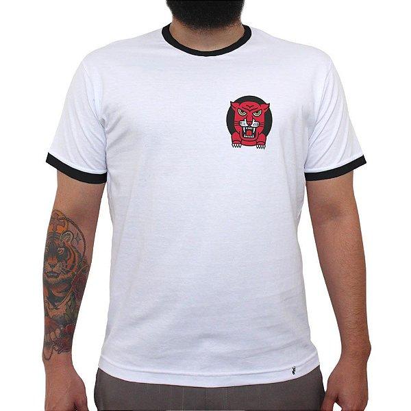 Tinkuy Puma - Camiseta College Masculina Golas Pretas