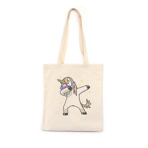Unicorn Dabbing - Bolsa de Lona-Off White-U