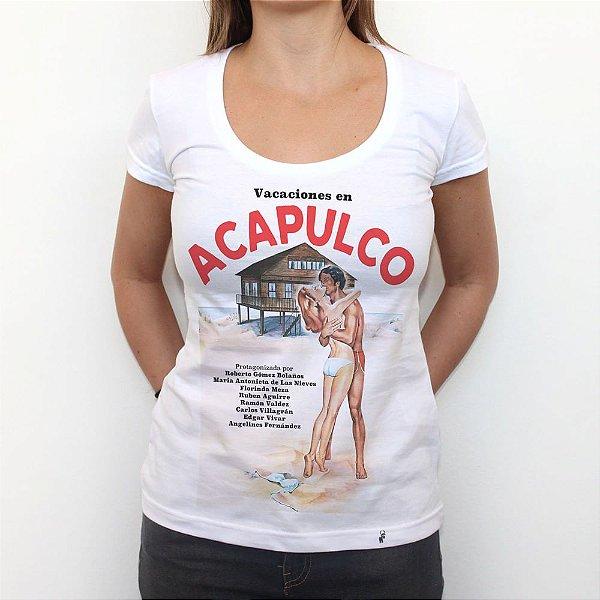 Vacaciones en Acapulco - Camiseta Clássica Feminina