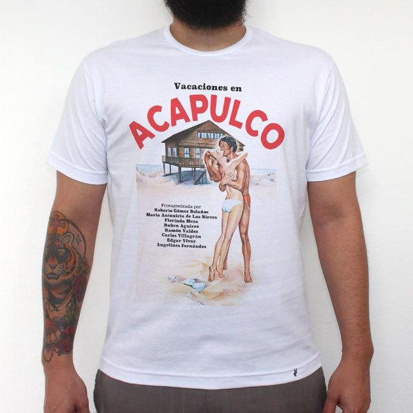 Vacaciones en Acapulco - Camiseta Clássica Masculina