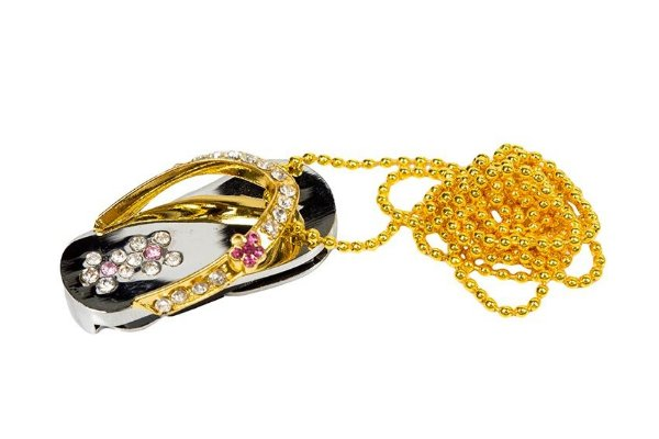 PEN DRIVE 8GB COLAR COM STRASS CHINELO
