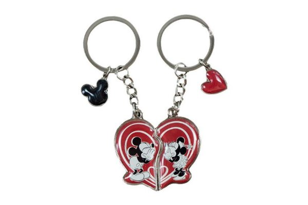 CHAVEIRO METAL NAMORADOS MINNIE E MICKEY