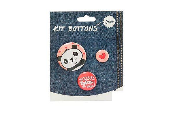 KIT BOTTONS PANDA