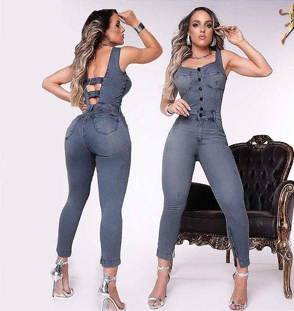 Macacão Jeans Modelador 56177