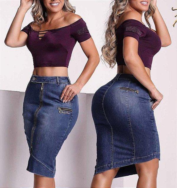 Saia Elegante Jeans 56335