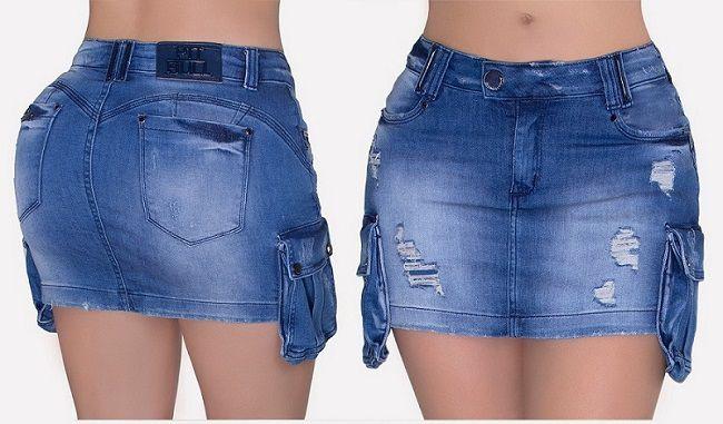 Saia Pit Bull Jeans C/ Bojo Ref. 26806