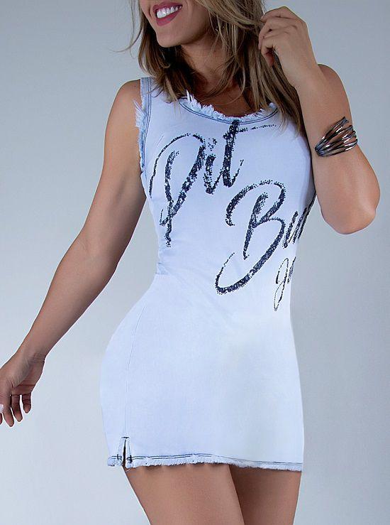 Vestido Pit Bull Jeans - calça pit bull d2423b71384