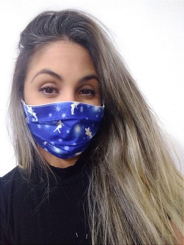 Máscara Sininho Disney 100% Algodão C/Elástico Regulável