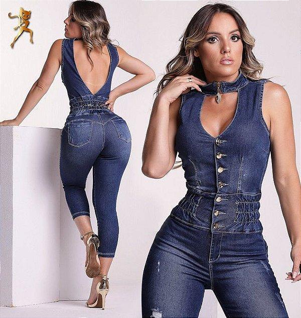 Macacão Jeans Modelador 56569