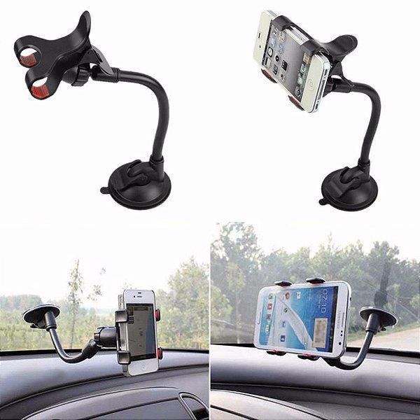Suporte Veicular com Ventosa para Celular/Iphone/GPS