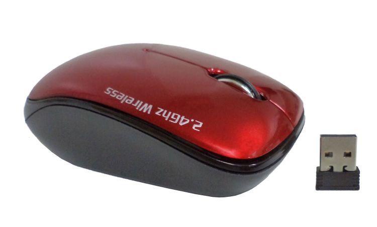 Mini Mouse Óptico Sem Fio Goldentec GT W3C com 3 Cores